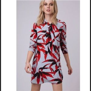 Dresses & Skirts - Mixed print front tie dress